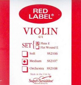 Super Sensitive Steelcore 4/4 Violin Strings