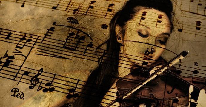 Violinist concept