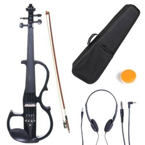 CecilioElectric Silent Violin with Ebony Fittings in Style 2