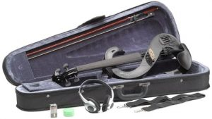 Stagg BK Silent Violin Set with Case