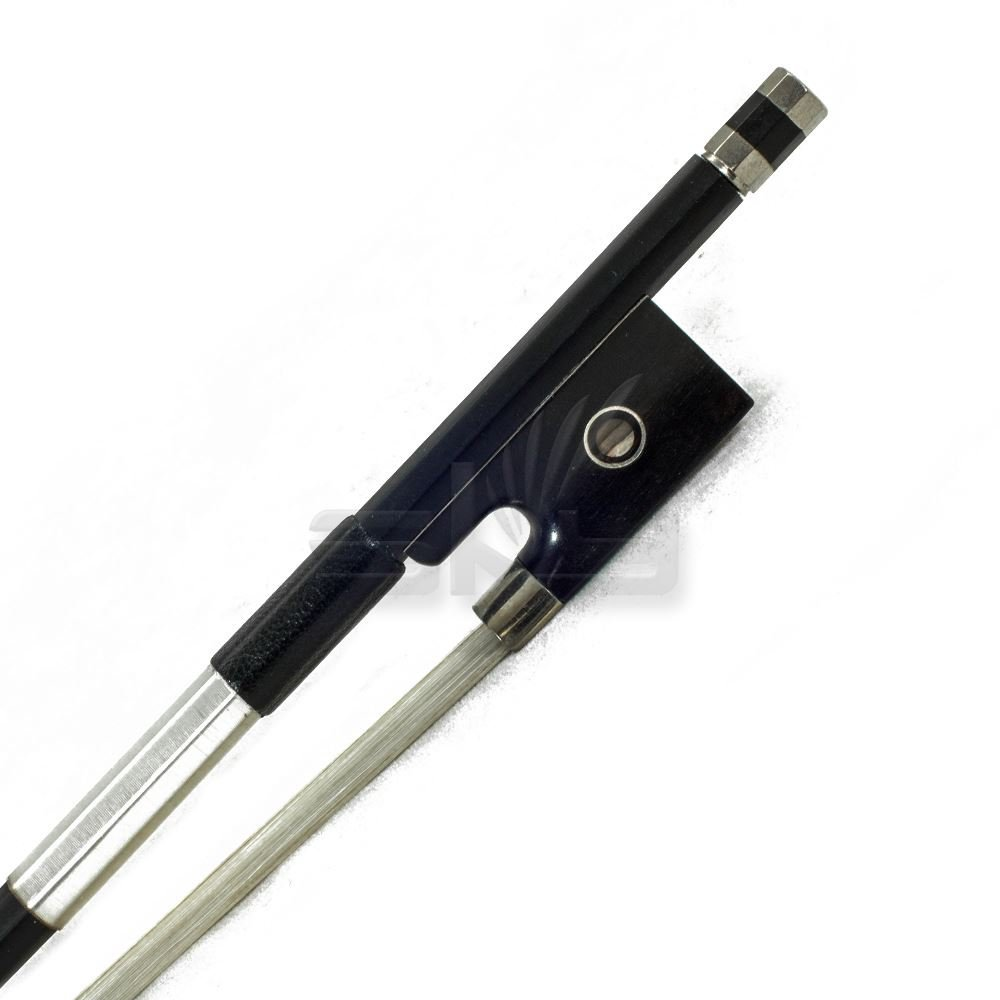 Violin Bow Satin Carbon Fiber Round Stick Mongolian Horsehair Silver Wrap