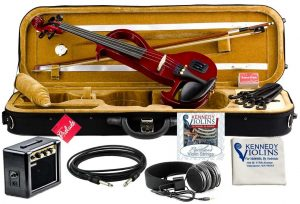 Bunnel EDGE Electric Violin Outfit Rock Star Red