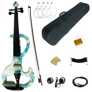 Colored Solid Wood Intermediate-A Electric Silent Violin Kit
