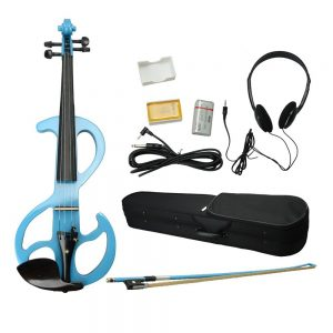 High-grade 8 Pattern Electroacoustic Violin with Case and Accessories Blue