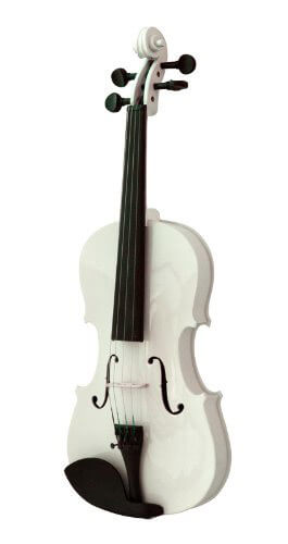 Mendini MV White Solid Wood Violin