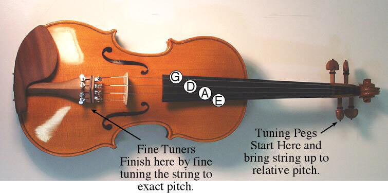 violin tuning parts - pegs and fine tuners